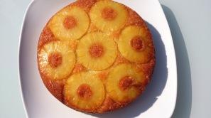 Gâteau coco ananas caramélisé